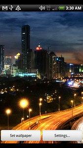 City at Night Live Wallpaper