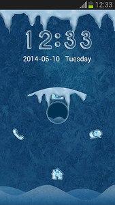 Frozen Lock Screen