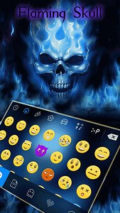 Flaming Skull Kika Keyboard