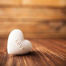 White Love Heart On Wood