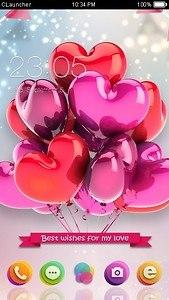 Romantic Wish C Launcher Theme