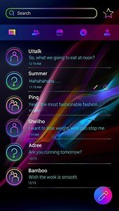 GO SMS PRO NEON WAVE THEME