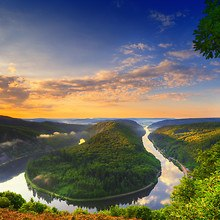Saar River In Europe