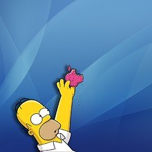 Apple Homer Simpson