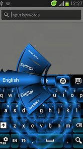 GO Keyboard Blue Neon Free