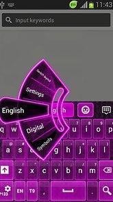 GO Keyboard Neon Violet