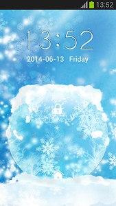 Snow Lock Screen