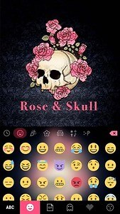 Rose n Skull Kika Keyboard