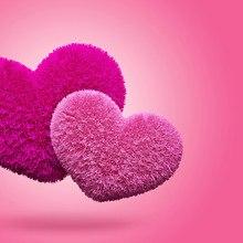 Fluffy Love Hearts