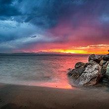 Alki Shoreline Sunrise
