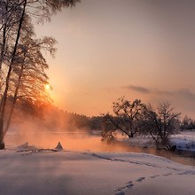 Sunrise Snow