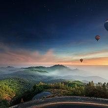 Hot Air Balloon Dusk Flight