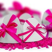 Valentine's Day Pink Ribbon Hearts