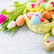 Easter Basket & Tulips