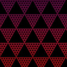 Triangle Pattern Red