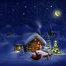 Santa Claus Log Cabin