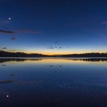 Calm Lake At Dusk