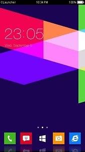 Geometric Blue Theme