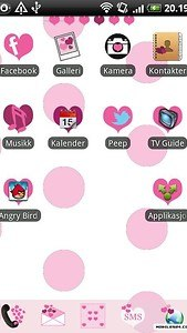 Hearts GO Launcher EX Theme