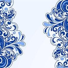 Floral Art Blue