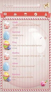 (FREE)GO SMS PINK EASTER THEME