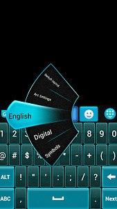 GO Keyboard Blue and Black