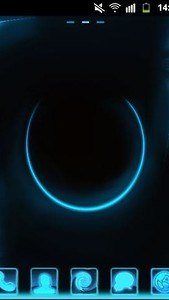 GO Launcher Themes Neon Blue