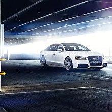 White Audi A8