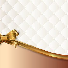 Luxury Quilted Background With Bow