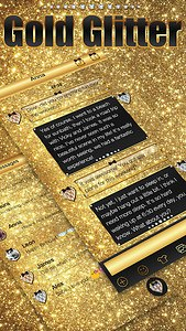 Gold Glitter Emoji Keyboard