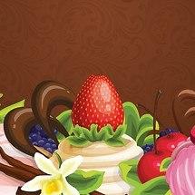 Strawberry Dessert Vector