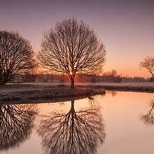 Sunrise Over The River Stour