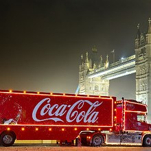 Coca Cola Christmas Truck London Bridge