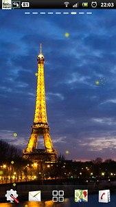 Eiffel Tower Night LWP