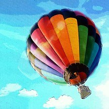 Hot Air Balloon Pastel