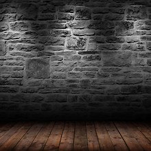 Brick Wall Wood Floor