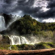 Stormy Waterfall