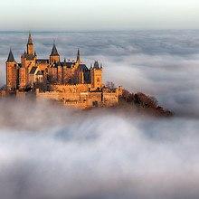 Hohenzollern Castle Over The Morning Fog