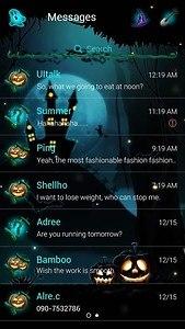 GO SMS HALLOWEEN GHOST THEME