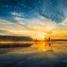 Yellowstone National Park Sunset Lake