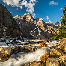 Mountain Valley Of The Ten Peaks