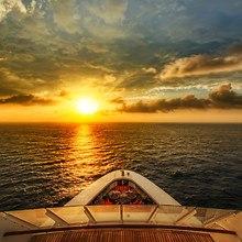 Cruise Ship Sea Sunset