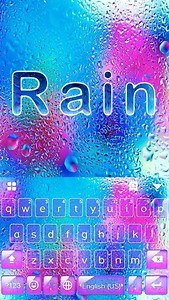 Rain Emoji Kika Keyboard Theme