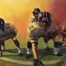 American Football Players Art