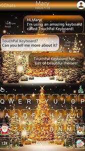 Golden Christmas Tree Keyboard