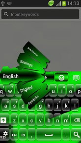Neon Green GO Keyboard