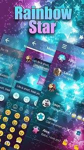Rainbow Star Emoji Keyboard