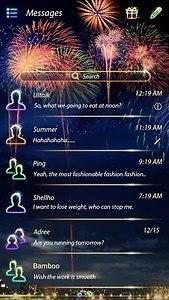 (FREE) GO SMS FIREWORK THEME