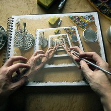 Hand Drawing Illusion