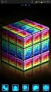 GO Launcher Style rainbow cube